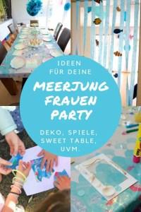 Hier findest du Inspiration für deine Meerjungfrauen Party: Deko, Partyspiele, Gastgeschenke, Torte, Sweet Table, uvm!