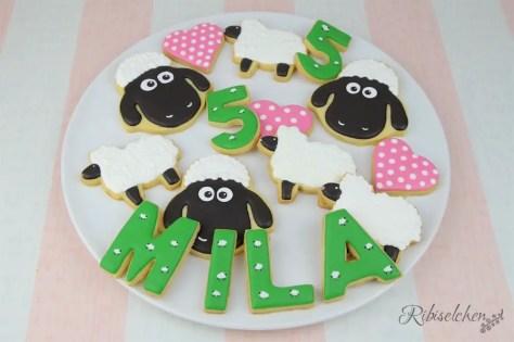 Schaf Kekse mit Royal Icing