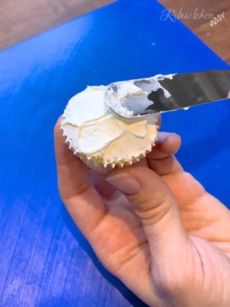 Schaf Cupcakes Anleitung