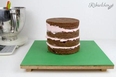 Torte gestapelt