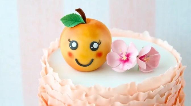 Staubgefäße für Zuckerblumen selber machen – Pfirsichblüten aus Zucker