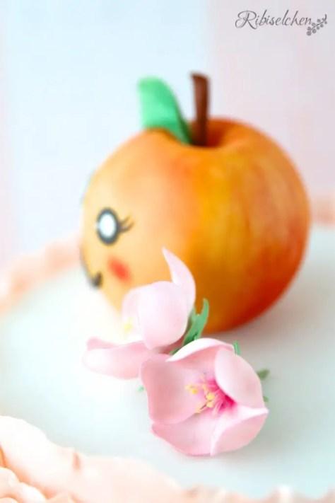 Pfirsichblüten aus Zucker