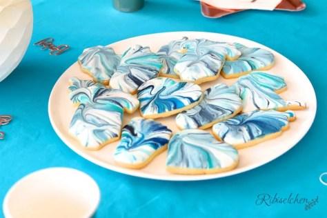 Babyparty Kekse blau