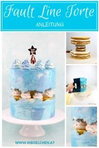 Anleitung für eine Fault Line Torte mit vielen Fotos und einem Making-of-Video!