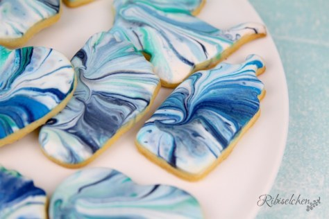Marmorierte Royal Icing Kekse Anleitung