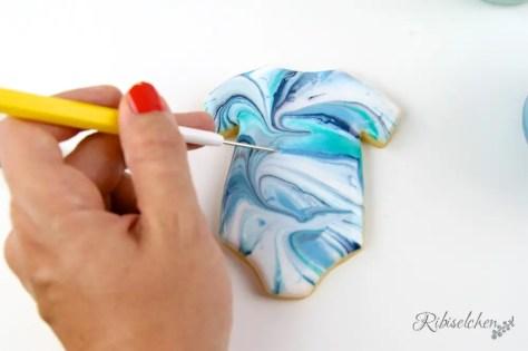Marmorierte Royal Icing Kekse Anleitung