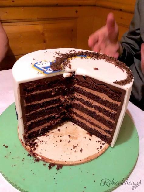 Torte angeschnitten
