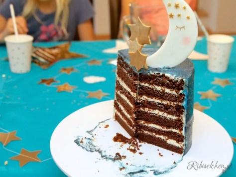 Übernachtungsparty Torte