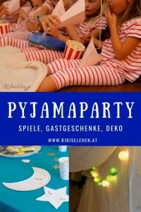 Hier findest du viele Ideen für deine Pyjamaparty: Deko, Partyspiele, Torte, Gastgeschenke und wie man eine gemütliche Kuschelhöhle baut!