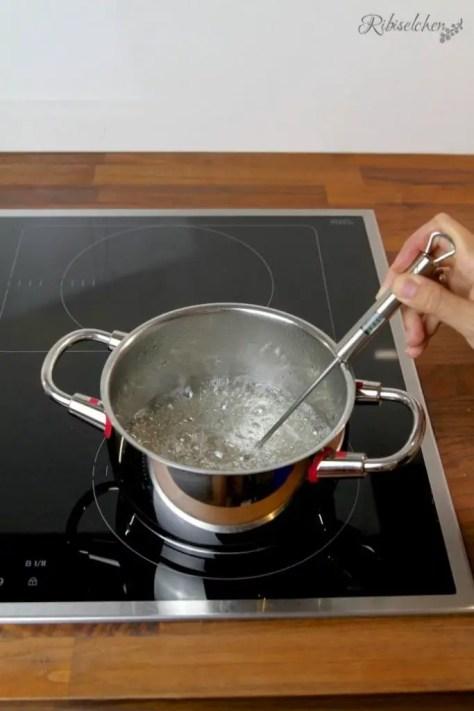 Zuckersirup kocht