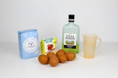 Zutaten für eine italienische Zitronenmeringue