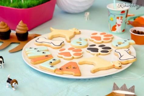 Hunde Kekse bei der Hundeparty
