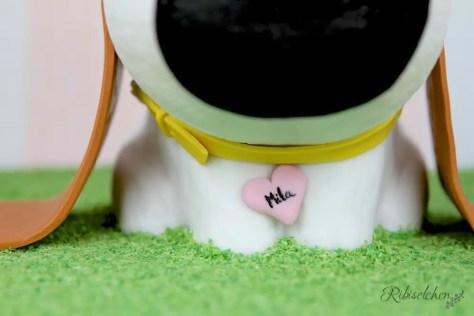 Halsband der 3D-Hundetorte