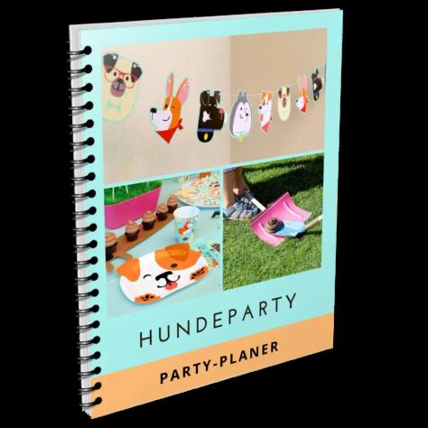 Gratis Hundeparty-Planer mit vielen Partyspielen + Checklisten, Ablaufplan, Druckvorlage, Ideen für Gastgeschenke, uvm.