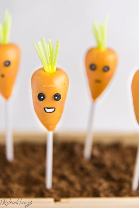 Lachender Karotten Cake Pop