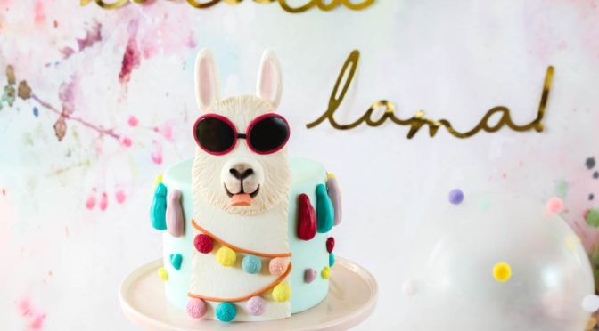 Eine freche Lama Torte