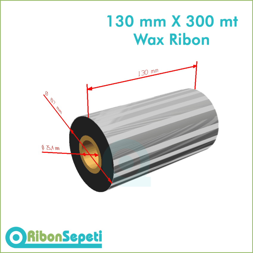 130 mm X 300 mt Wax Ribon Fiyatı (Online Satın Al)