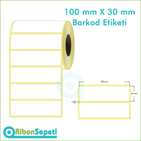 100x30 mm Boş (Beyaz) Etiket