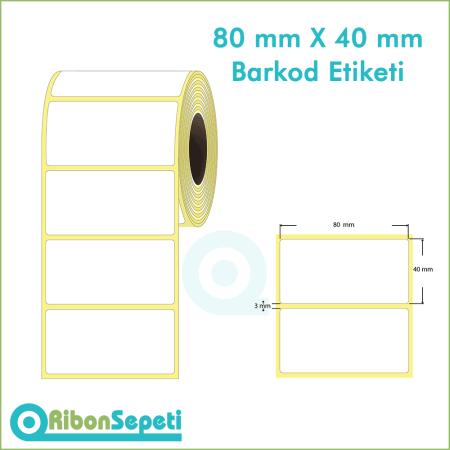 80x40 mm Boş (Beyaz) Etiket