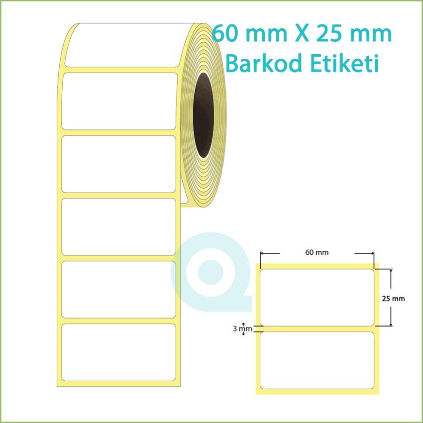 60x30 mm Boş (Beyaz) Etiket