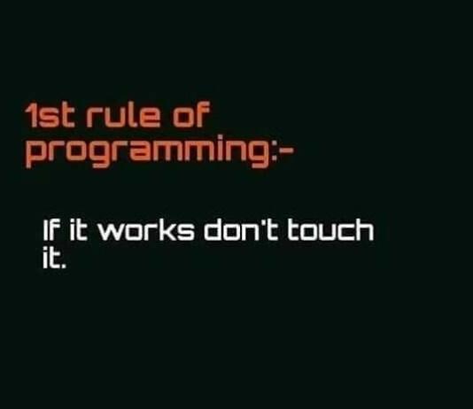 primera regla programacion