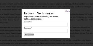 formulario suscripcion