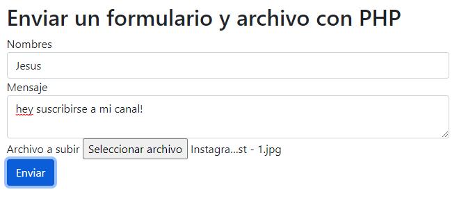 Envio de Formulario php javascript async await