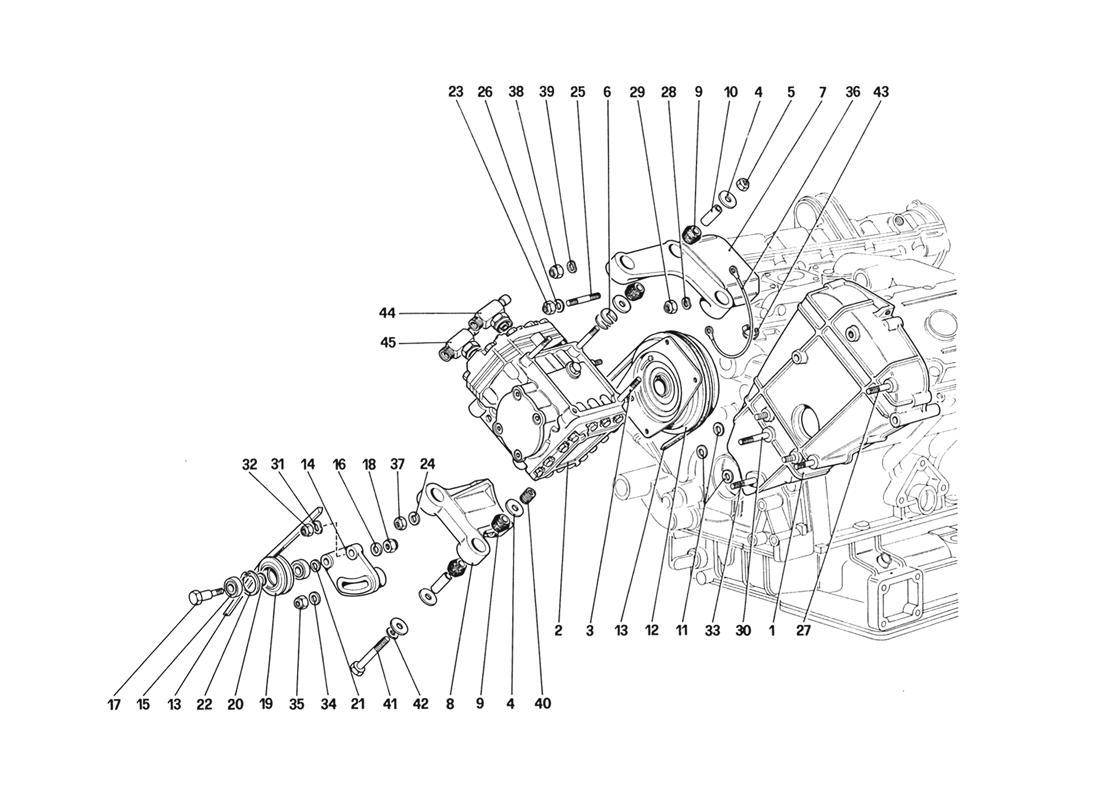 Ferrari 328 Air Conditioning Compressor And