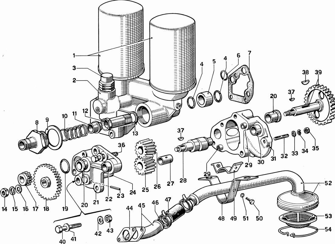 Ferrari 365 Gt 2 2 Oil Pump And Filters