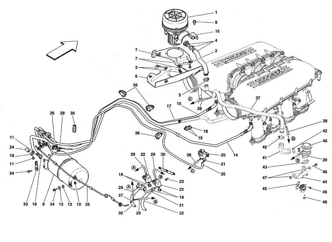 Ferrari 458 Italia Secondary Air Pump