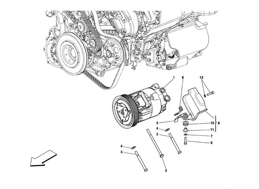 Ferrari 458 Italia Air Conditioning Compressor