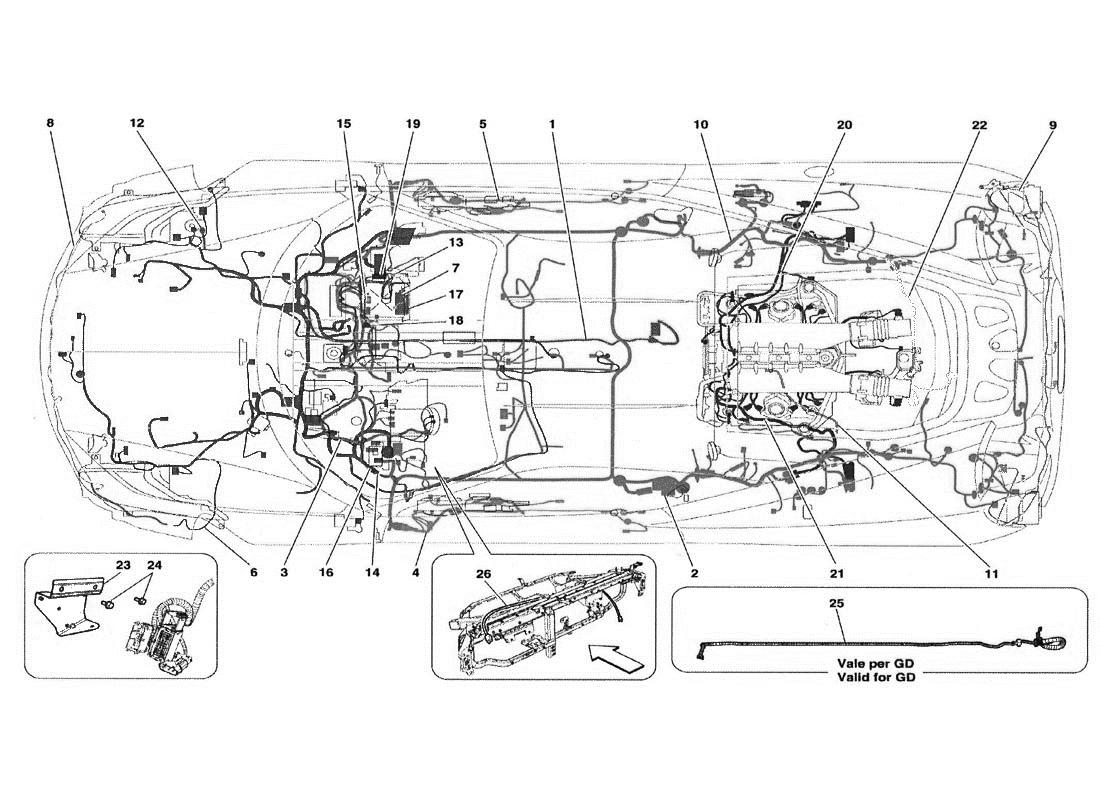 Ferrari 458 Italia Main Wiring