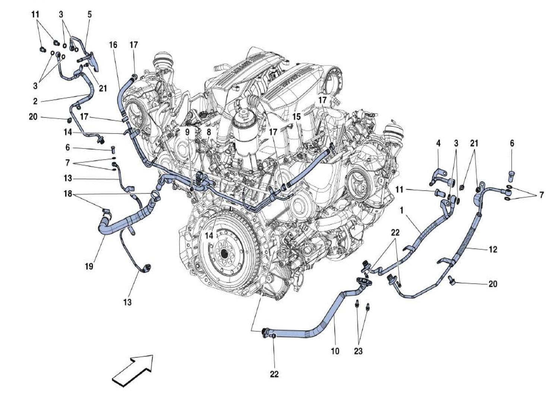 Ferrari 488 Gtb Cooling Lubrication For Turbo