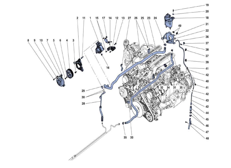 Ferrari 488 Gtb Power Steering Pump And Reservoir