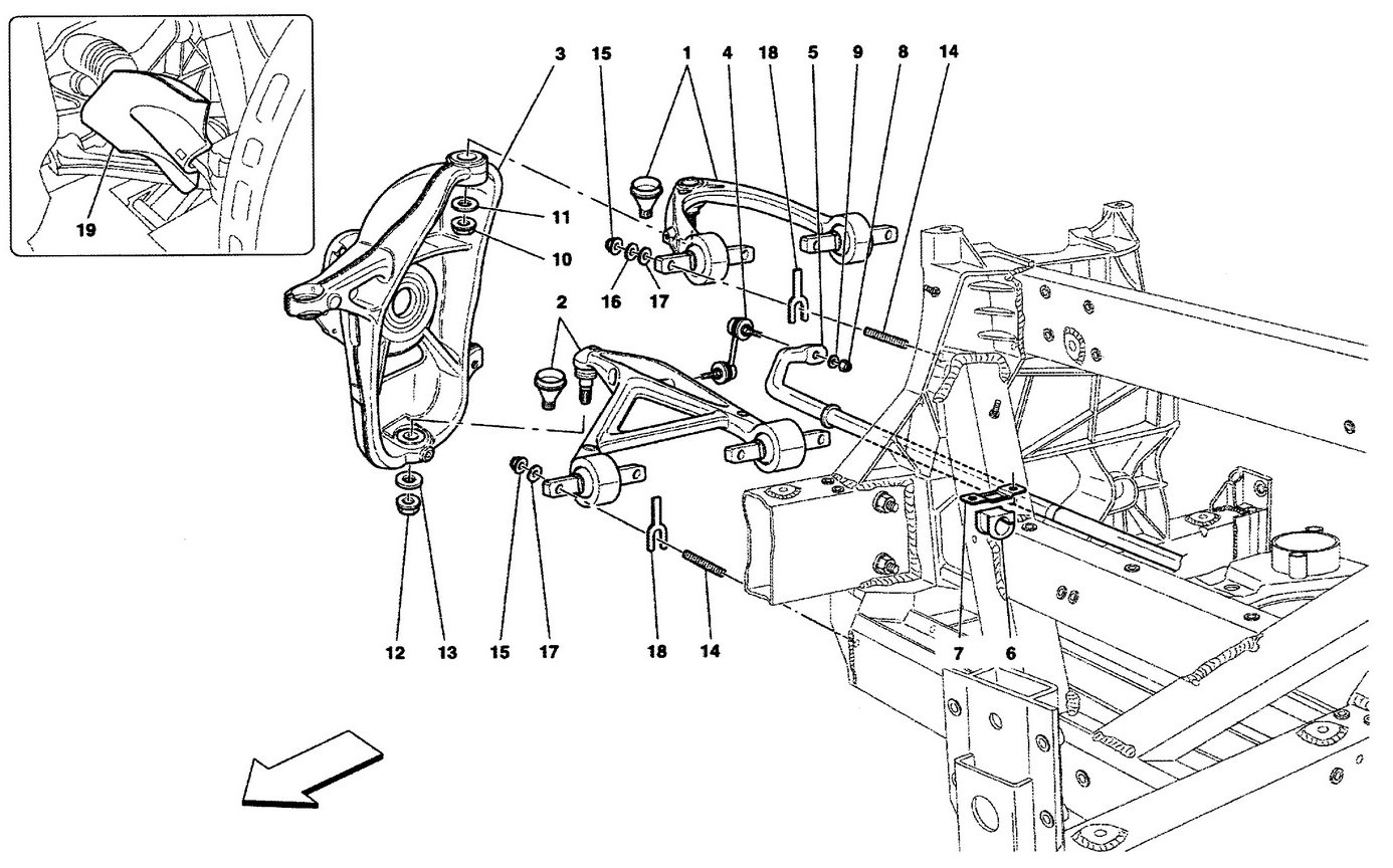 Ferrari California 09 Front Suspension