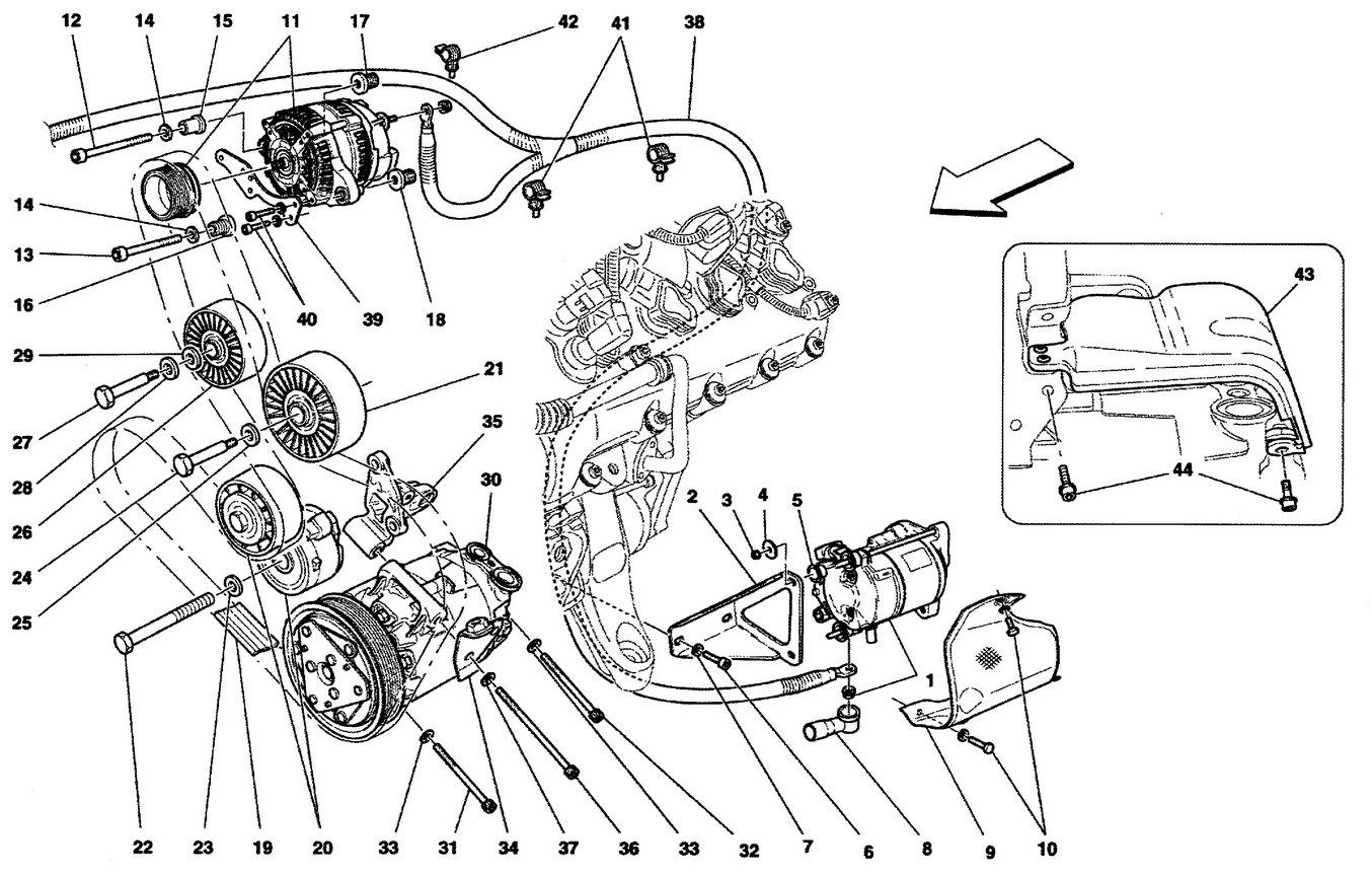 Ferrari California 09 Alternator Starting Motor And Ac