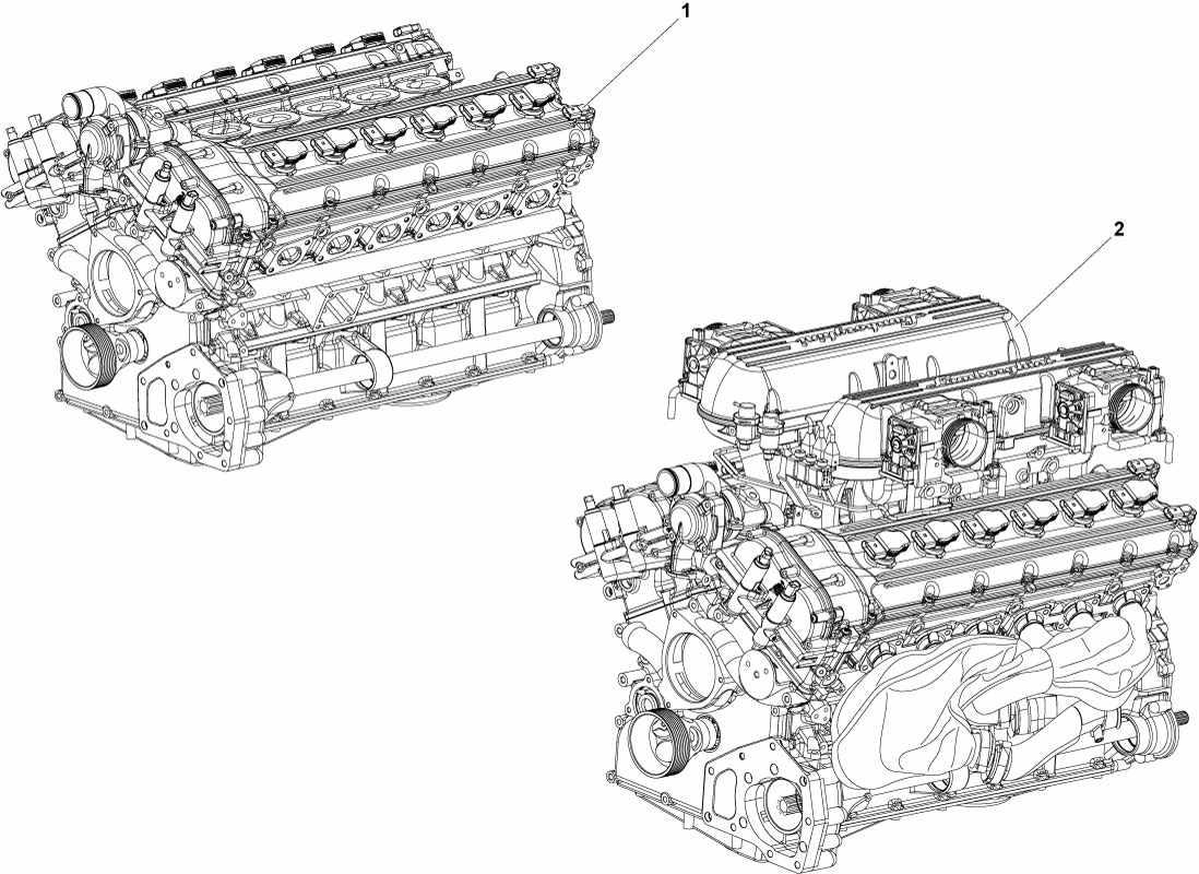 Lamborghini Murcielago Roadster Engine