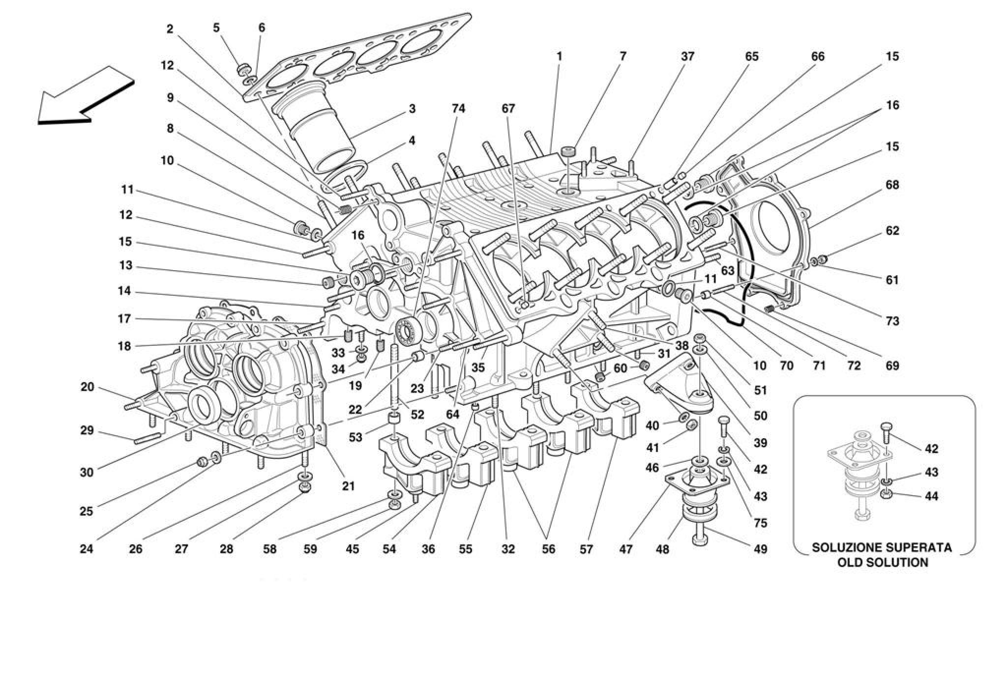 Ferrari F355 M2 7 Crankcase