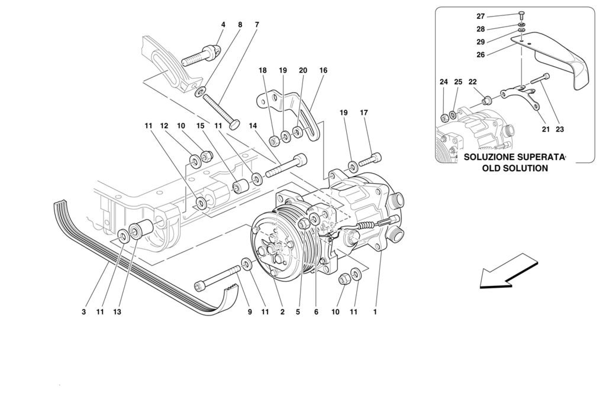 Ferrari F355 M2 7 Air Conditioning Compressor