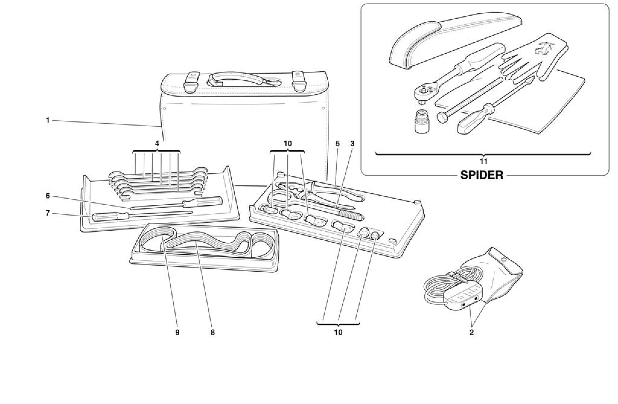 Ferrari F355 M2 7 Tools Equipment