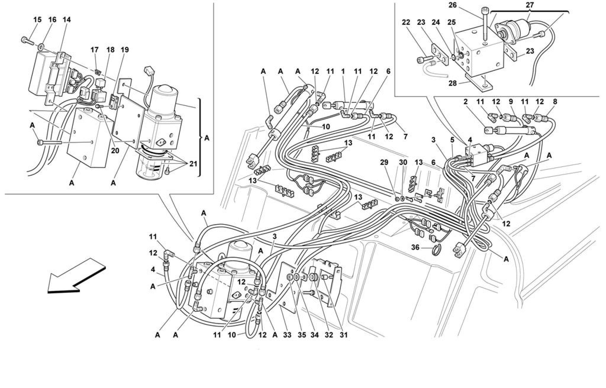 Ferrari F355 M2 7 Top Hydraulic Control Valid For