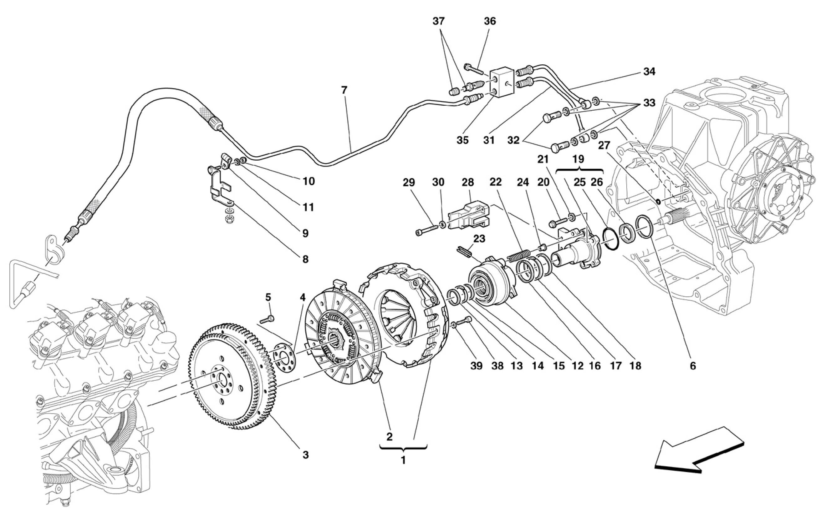 Ferrari F430 05 08 Clutch And Controls Not For F1