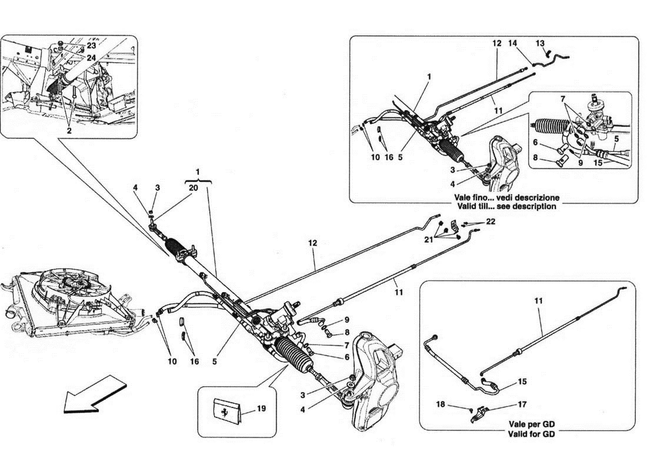 Ferrari 458 Italia Hydraulic Steering Box