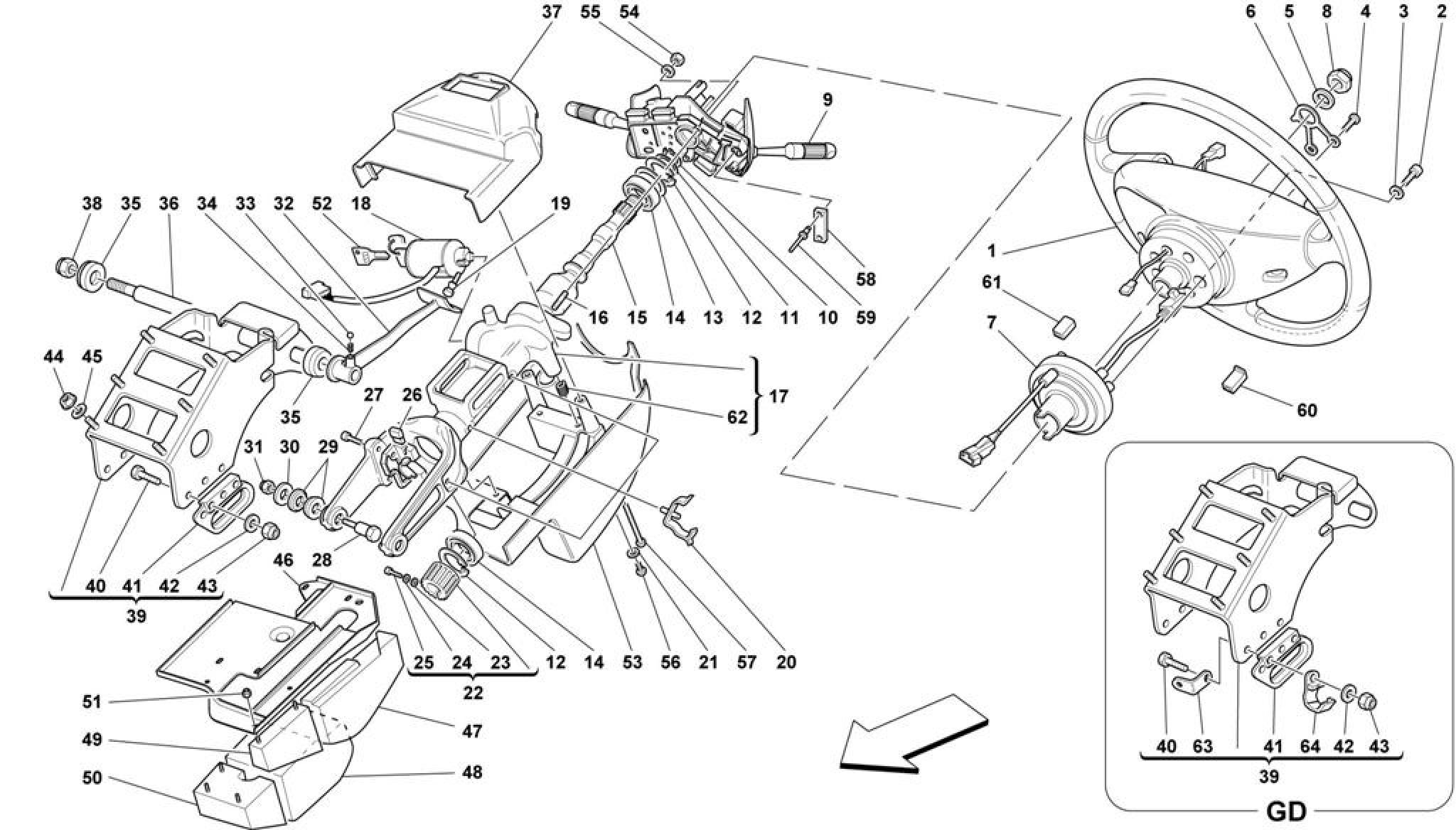 Ferrari 550 Maranello Steering Column