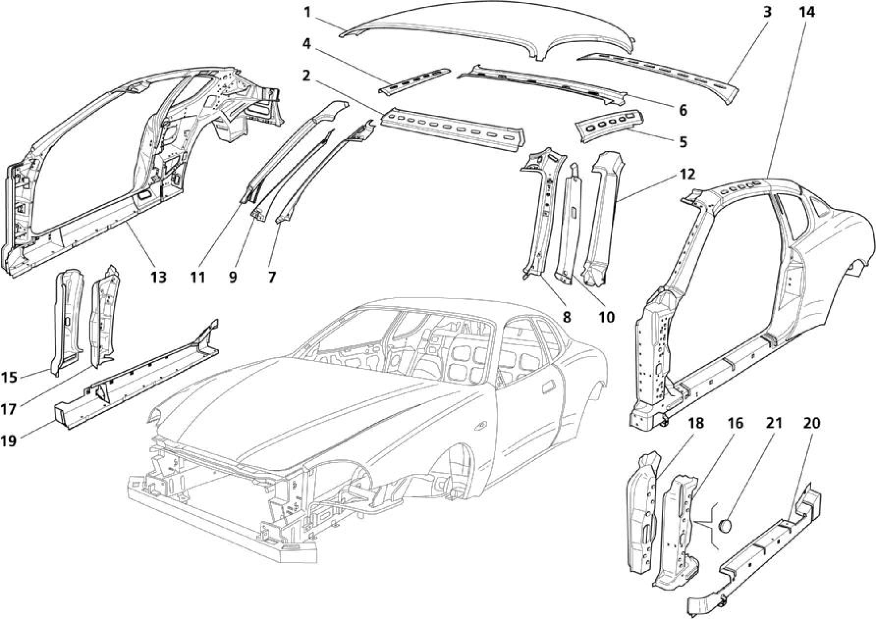 Maserati Maserati Coupe Body Central Outer Trims