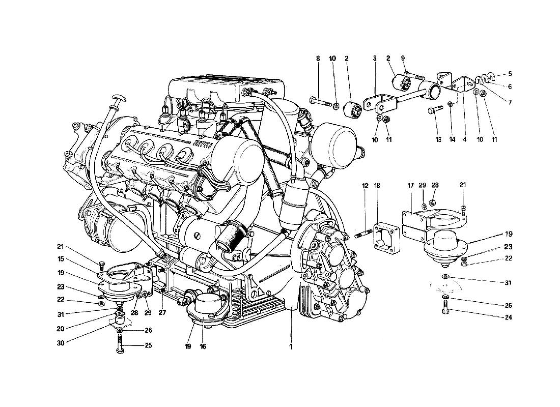 Ferrari 308qv Engine
