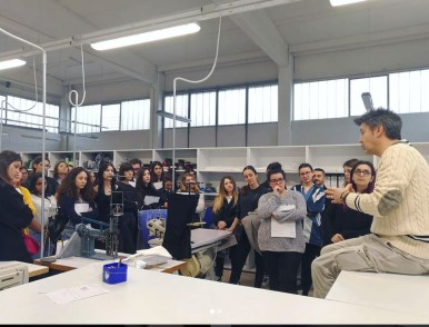 with the students of Accademia Costume e Moda - Rome in our Tayloring Dept. explaining the importance of quality of luxury products..
