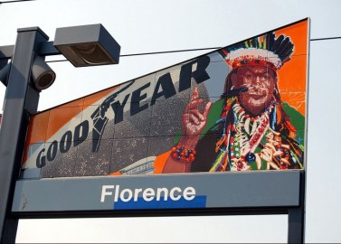Florence Metro Station, Los Angeles 2005, 12 panels, Glazed porcelaine tiles, Each panel: 4' x 7' x 8""