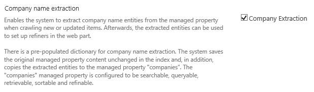 Company Extraction