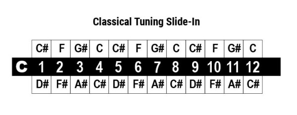 cromatica classical tuning slide in